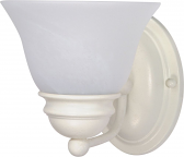 """Empire Textured White Sconce Light Alabaster Glass 6""""Wx6""""H"""