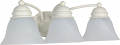 "Empire Textured White Sconce Light Alabaster Glass 20""Wx6""H"