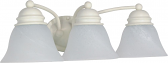 """Empire Textured White Wall Light Alabaster Glass 20""""Wx6""""H"""