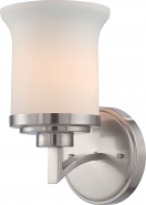 """Harmony Brushed Nickel Drum Shade Wall Sconce 6""""Wx10""""H"""