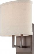 "Gemini Hazel Bronze Oval Shade Sconce Light 8""Wx10""H"