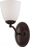 "Patton Prairie Bronze Sconce Light Glass Shade 5""Wx11""H"
