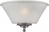 """Teller Aged Pewter Sconce Light Glass Shade 12""""Wx7""""H"""