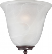 """Empire Old Bronze Alabaster Glass Wall Sconce 10""""Wx10""""H"""