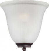 """Empire ORB Bronze Frosted Glass Half Shade Wall Sconce 10""""Wx10""""H"""
