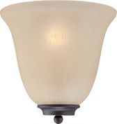 """Empire ORB Bronze Champagne Glass Half Shade Wall Sconce 10""""Wx10""""H"""
