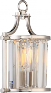 "Krys Polished Nickel Crystal Wall Sconce Light Vintage Bulb 8""Wx13""H"