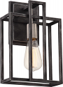 "Lake Dusted Black Iron Sconce Light 8""Wx12""H"