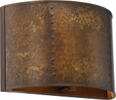 "Kettle Weathered Brass Wall Sconce Light 12""Wx8""H"