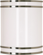 """Glamour Fluorescent White Brushed Nickel Sconce Light 9""""Wx10""""H"""