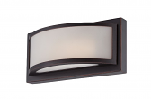 "Mercer LED ORB Bronze Glass Sconce Light 10""Wx4""H"