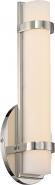 """Slice LED Polished Nickel Acrylic Sconce Light 4""""Wx12""""H"""