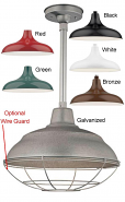 "Warehouse Pendant Light 6 Colors Indoor-Outdoor 14-17""W"