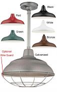 """Warehouse Pendant Light 6 Colors Indoor-Outdoor 14-17""""W"""