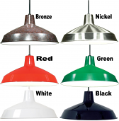 "Warehouse Industrial Pendant Light 6 Colors 16""W"