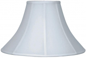 "White Bell Silk Coolie Lamp Shade 16-24""W - Sale !"