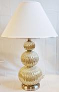 """Vintage Speckled Glass Hollywood Regency Lamp 29""""H"""