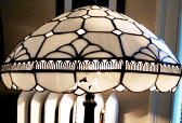 White Tiffany Lamp Shade Repair