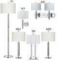 Wholesale Chrome Lamps Table, Floor, Wall & Desk