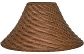 """Bell Coolie Rattan Lamp Shade 20""""W"""