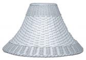 "White Dual Weave Bell Wicker Lamp Shade 12.5-20""W"