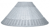 "White Coolie Dual Weave Wicker Lamp Shade 21""W"
