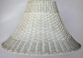 Whitewash Wicker Rattan Lamp Shade Color