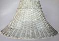 Whitewash Wicker Rattan Lamp Shade Color