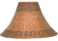 "Brown Bell Dual Weave Rattan Lamp Shade 12.5-20""W"