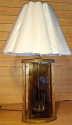 "Wood Table Lamp Double Night Light 26""H - Sale !"