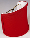 "Red Silk Sconce Shade 4""W"