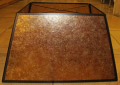 "Large Square Amber Mica Lampshade 4-96""W"