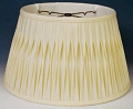 "Smock Pleated Silk Floor Lamp Shade Cream, White 17-19""W"