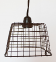 "Wire Basket Swag Lamp Pendant Light 7""Wx5""H"