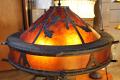 """Large Bronze Oakleaf Mica Floor Lamp 60""""H"""