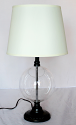 "Empty Glass Lamp For Seashells Collectibles 25""H"