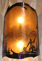"Fisherman Mica Sconce Light 8""X16"""