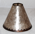 Custom Silver Mica Lampshade Jagged Border
