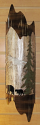 "Bear Family Pine Trees Torched Mica Sconce Light 6""Wx22""H"
