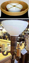 """White Bowl Glass Shade Torchiere 6-10""""W"""