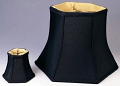 "Black Hexagon Silk Lamp Shade 5-18""W"