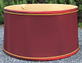 "Burgundy Silk Shallow Drum Lamp Shade 15-18""W"