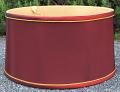 "Shallow Drum Burgundy Lamp Shade 15-18""W"