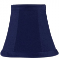 "Navy Blue Chandelier Lamp Shade Silk Shantung 5""W"
