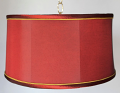"Burgundy Silk Swag Light 14-18""W"
