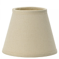 "Natural Cream Linen Chandelier Lamp Shade 5""W"