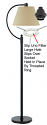 Slip On UNO Lamp Shade Fitters To Fit Any Lamp