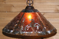 "Native American Mica Pendant Light Swag Lamp 14-18""W"