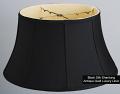 "Black Silk Floor Lamp Shade 17-19""W"