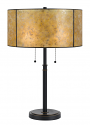 "Bronze w/Drum Shade Mica Lamp 24""H"